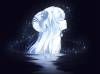 black, haruwakame, horns, long_hair, original, polychromatic, water, white_hair.png